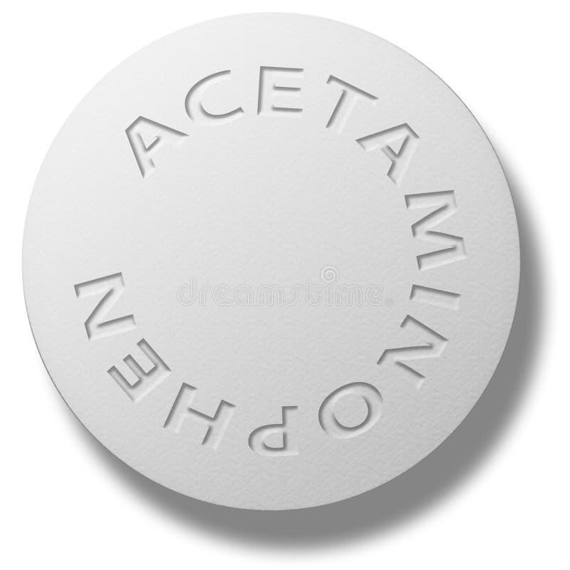 Acetaminophen lizenzfreie abbildung