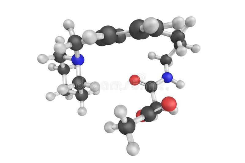 Acetato de Roxatidine, una droga del antagonista usada para tratar el ulc gástrico foto de archivo libre de regalías