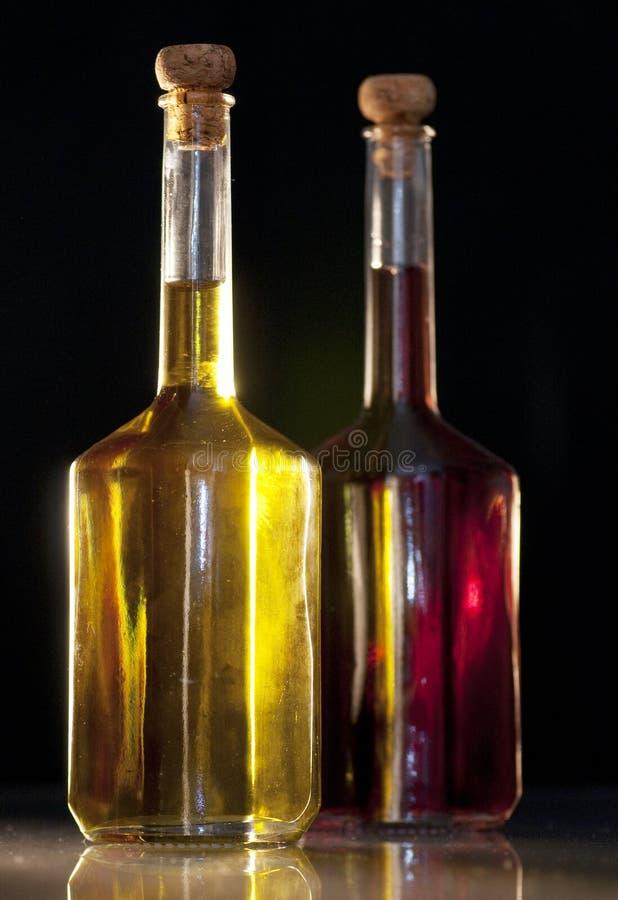 Aceto ed olio di oliva fotografie stock libere da diritti