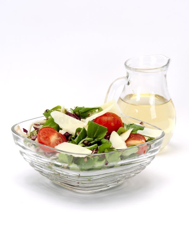 Aceto fresco della mela e dell'insalata fotografie stock libere da diritti