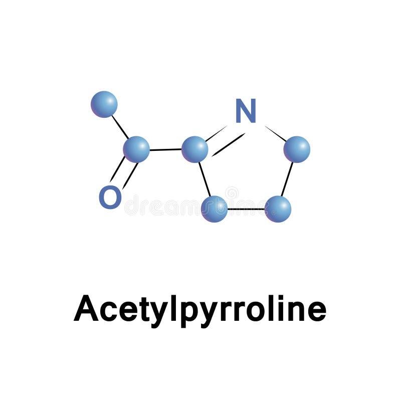 Acetylpyrrolinearom vektor illustrationer