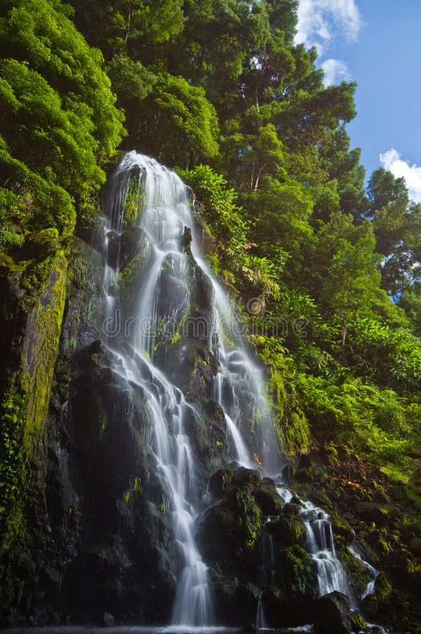 Achada waterfall stock images
