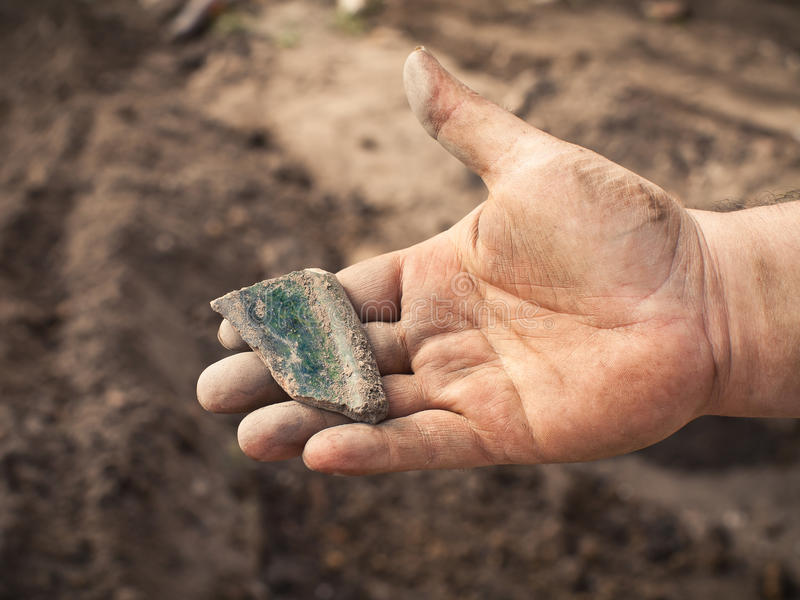 Achados Archaeological foto de stock