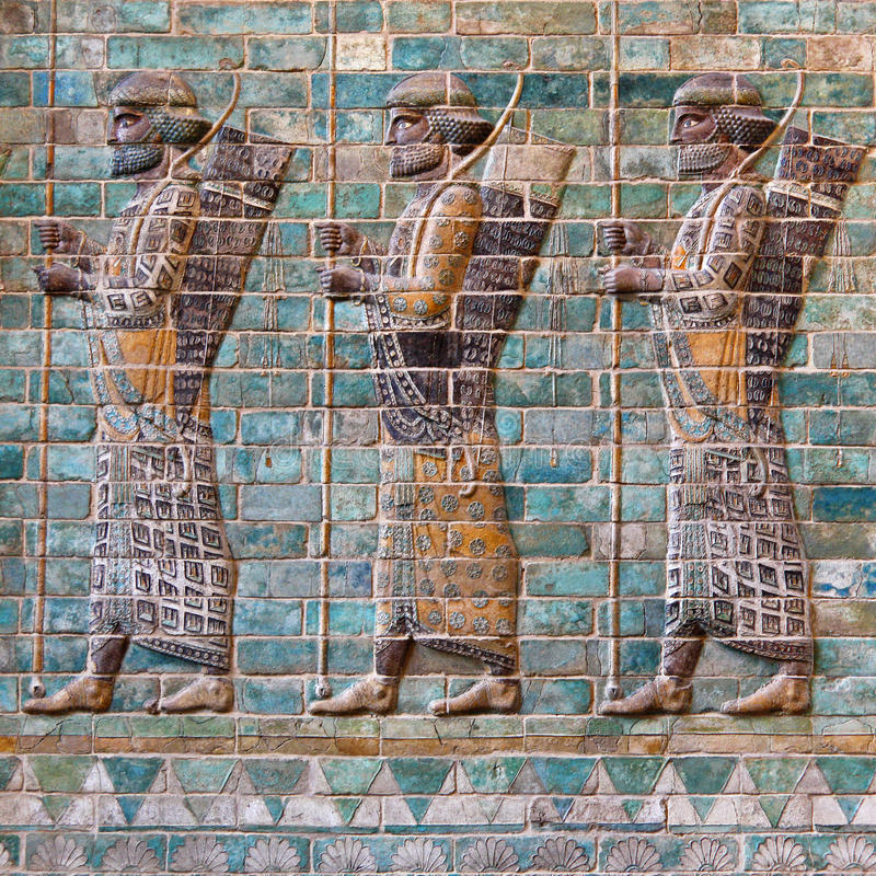 Achaemenid Soldiers stock photography