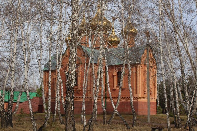 Achair kloster i Omsk, Sibirien royaltyfri foto