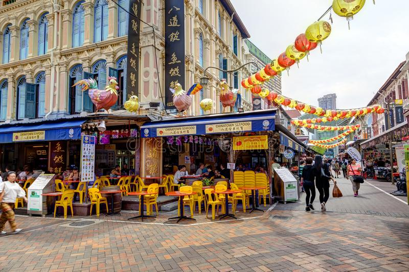 Achat à Singapour Chinatown photo stock