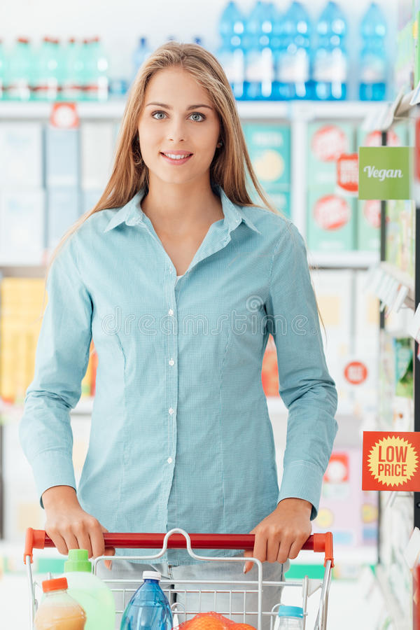 Achat au magasin discount image stock