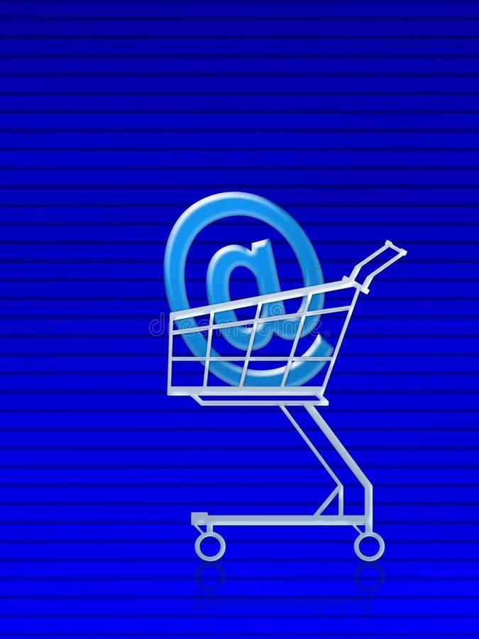 Achat d'email address illustration libre de droits