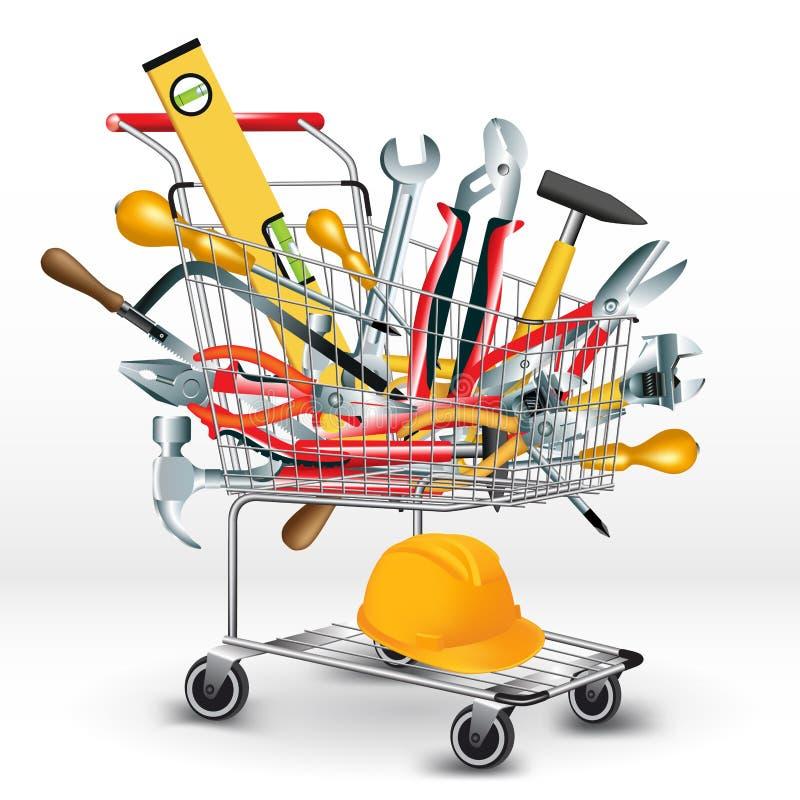 Achat d'outils de bricolage illustration de vecteur