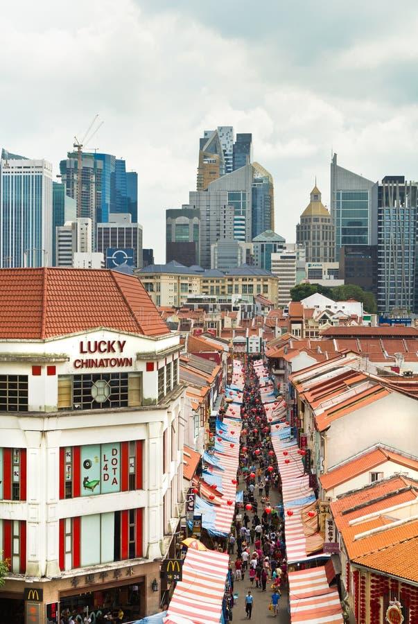 Achat dans Chinatown à Singapour photo stock
