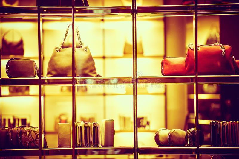Achat de luxe de marchandises images stock