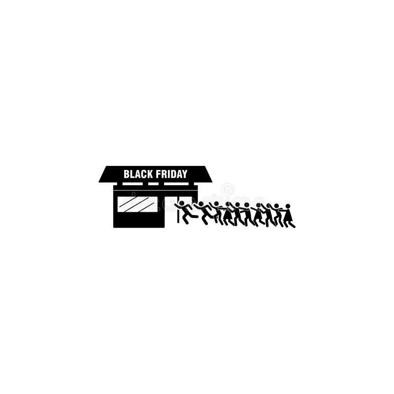 Achat de nouveau à l'icône de boutique Élément d'icône noire de vendredi pour les apps mobiles de concept et de Web Les achats dé illustration de vecteur