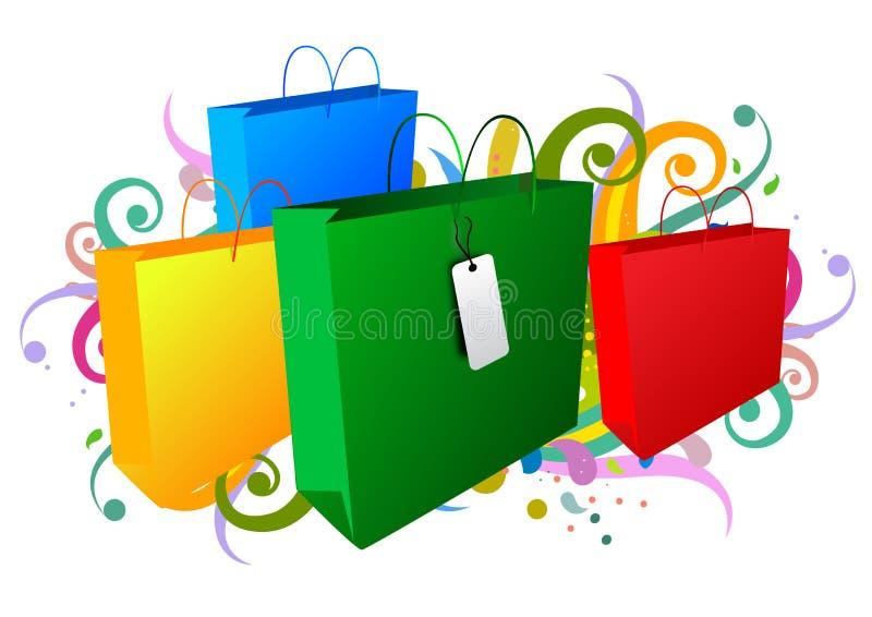 achat de sacs illustration de vecteur