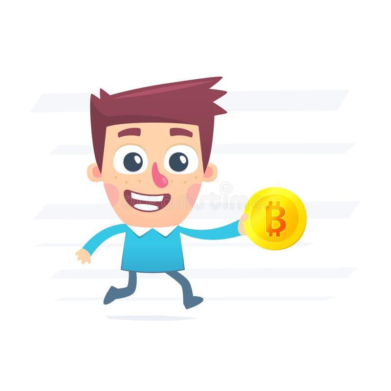 Achat pour Bitcoin illustration stock