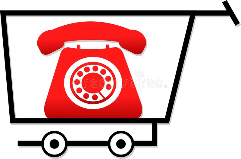 Achat pour des téléphones illustration de vecteur