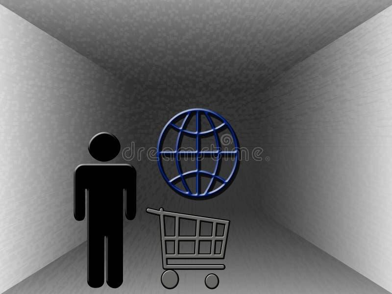 Achat sur le Web photographie stock libre de droits