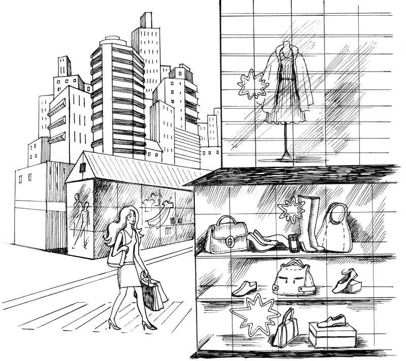Achats illustration stock