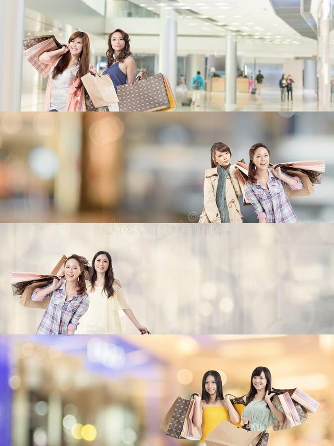 Achats asiatiques de femme photos libres de droits
