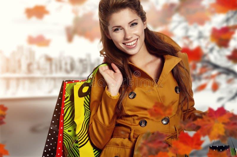 Achats d'automne photo stock