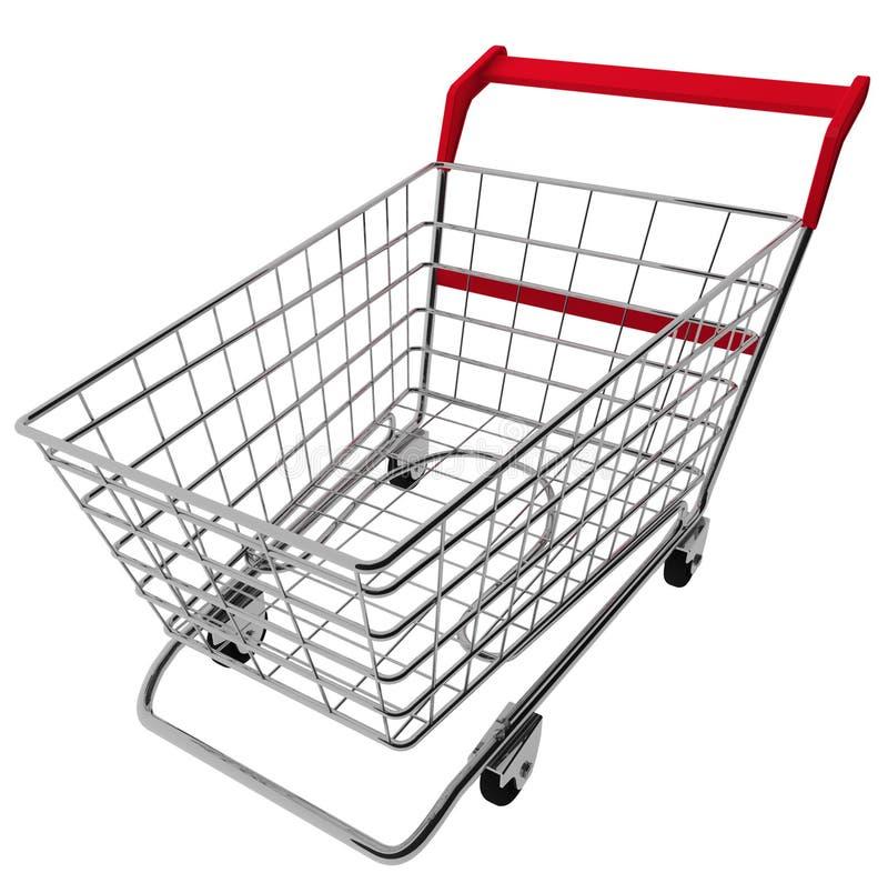 achats de chariot illustration de vecteur