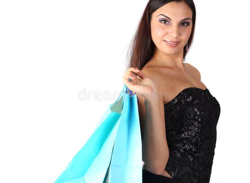 Achats de femme image stock