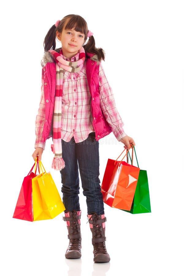 achats de fille photographie stock