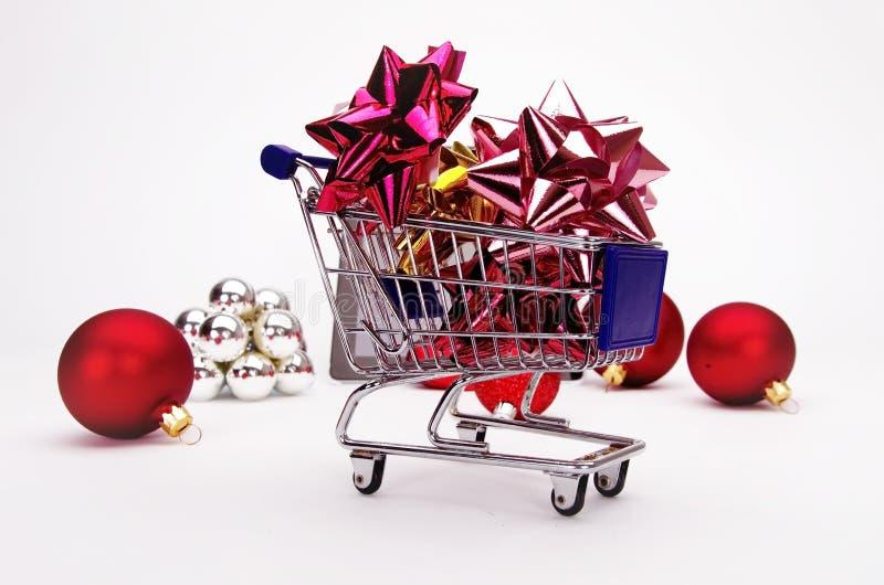 Achats de Noël, idée pour votre conception image libre de droits