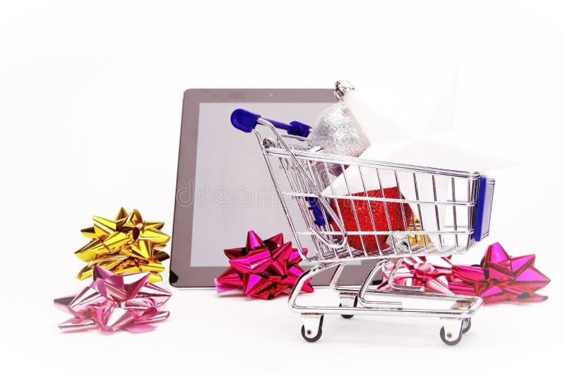 Achats de Noël, idée pour votre conception photographie stock libre de droits