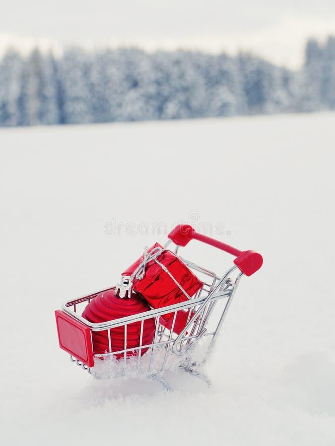 Achats de Noël, idée pour votre conception image stock