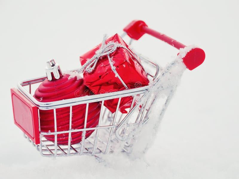 Achats de Noël, idée pour votre conception images stock
