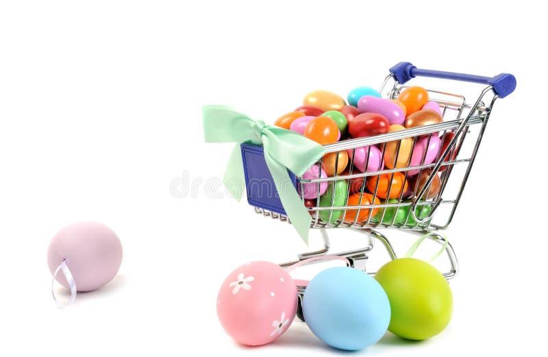 Achats de Pâques photo stock