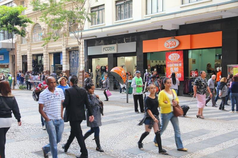 Achats de Sao Paulo image libre de droits