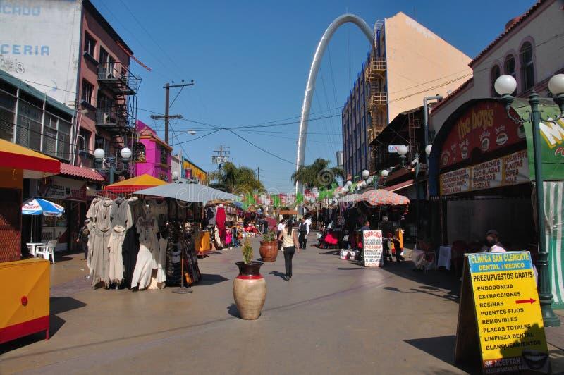 Achats de Tijuana image libre de droits