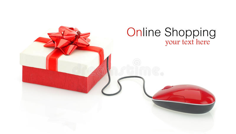 Achats en ligne photo stock