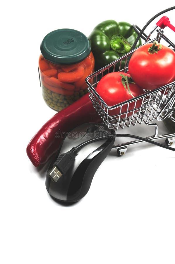 Download Achats en ligne image stock. Image du souris, blanc, outils - 8665849