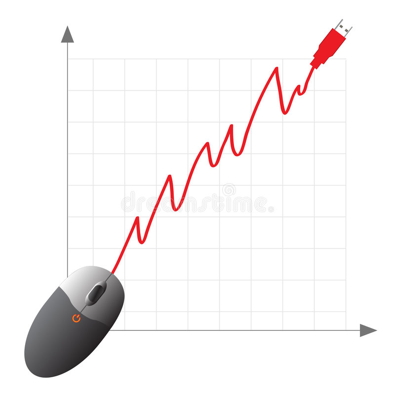 achats en ligne de commerce électronique concentré illustration de vecteur