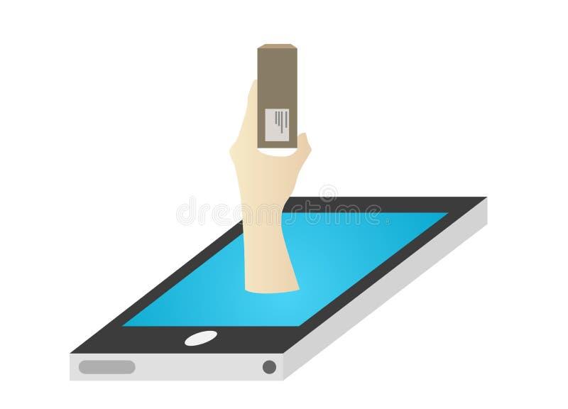 Achats mobiles illustration libre de droits