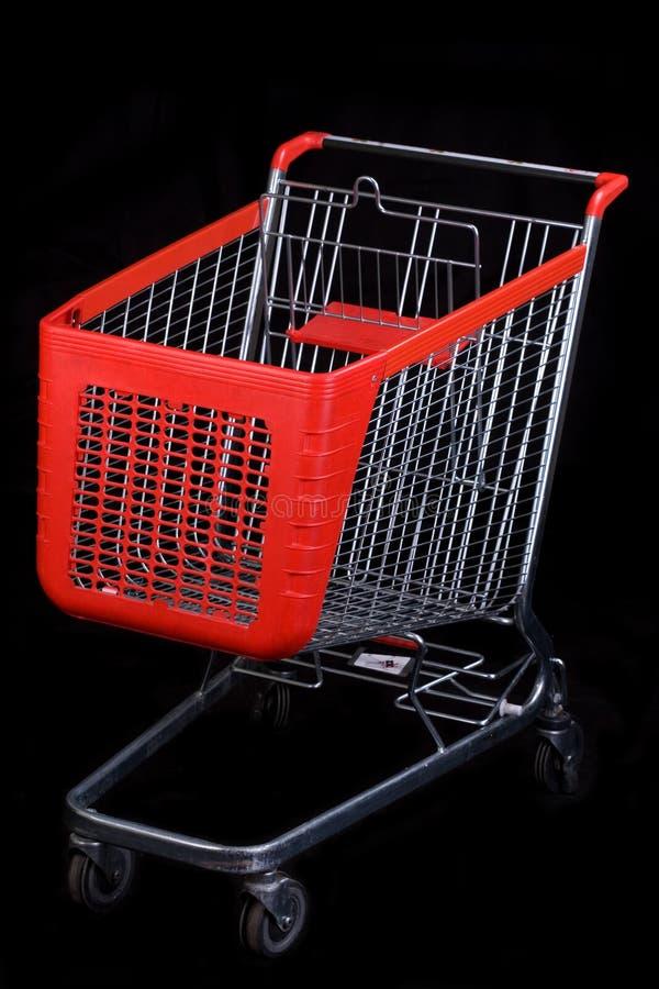 achats noirs de chariot de fond image libre de droits