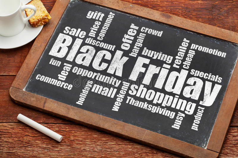 Achats noirs de vendredi photographie stock