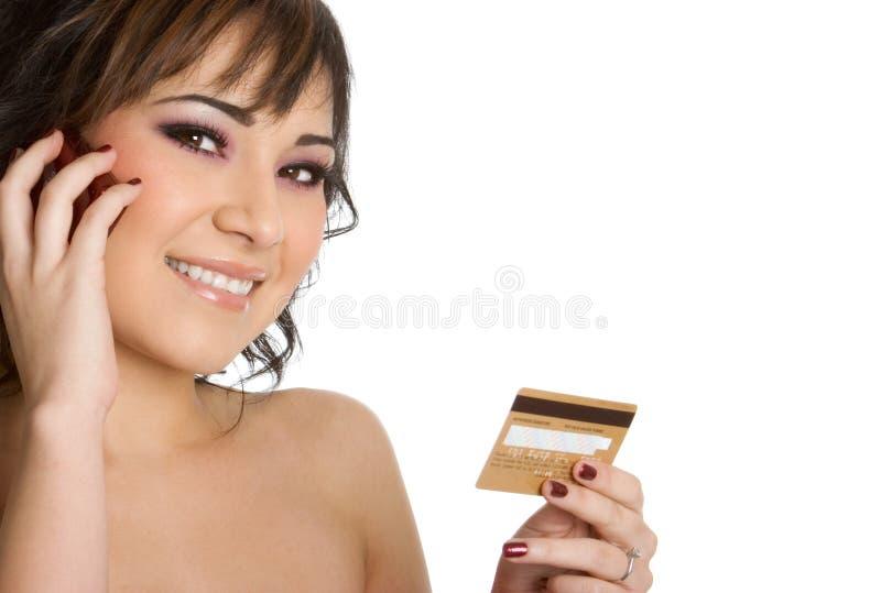 Achats par la carte de crédit photo stock