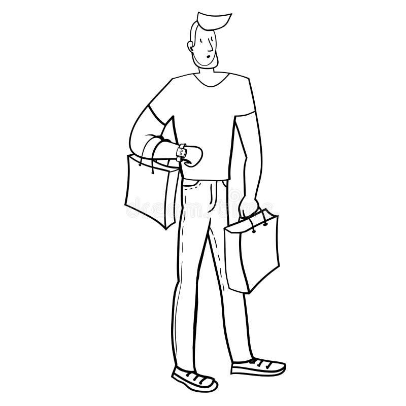 Achats illustration de vecteur
