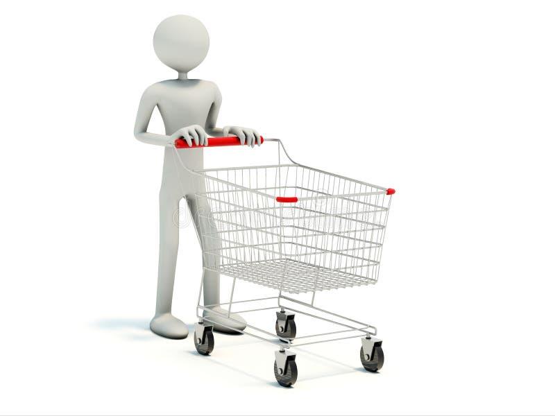 achats vides de chariot d'acheteur illustration de vecteur