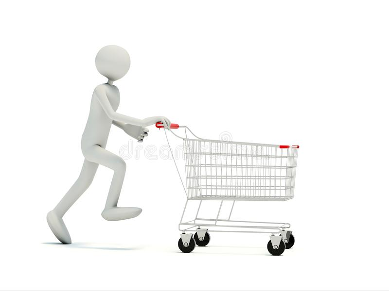 achats vides de chariot d'acheteur illustration stock