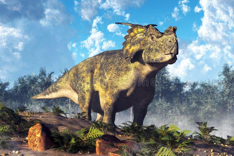 Achelousaurus stock illustratie