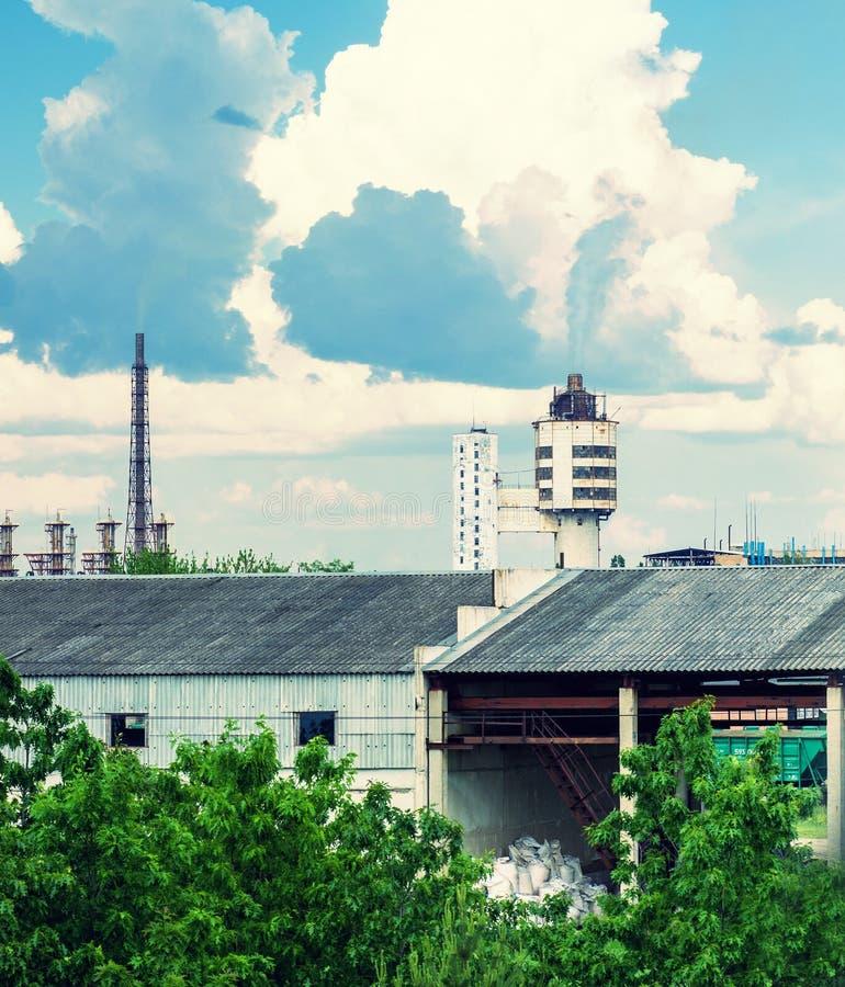 Achema工厂在约纳瓦,立陶宛 图库摄影
