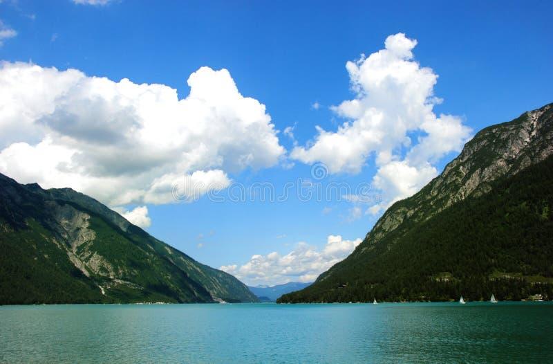 Achensee Widok Jeziorny Sceniczny zdjęcia stock
