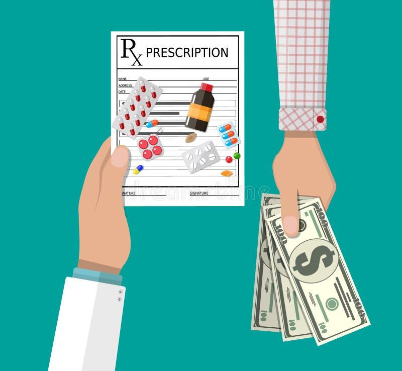Achetant et vendant des drogues illustration stock