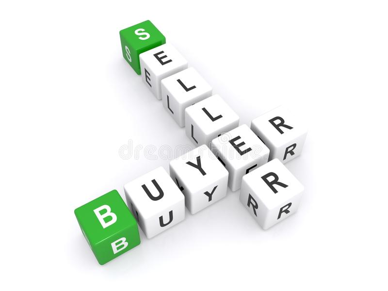 Acheteur et vendeur illustration libre de droits