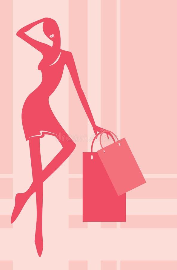 Acheteur rose illustration stock
