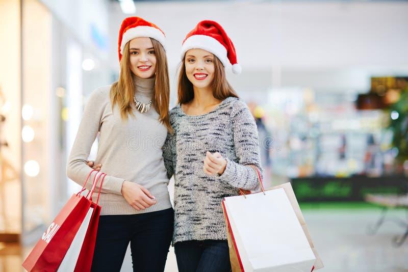 Acheteurs de Noël photos libres de droits